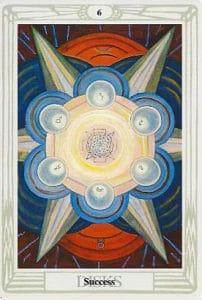Thoth Tarot - Aleister Crowley - 6 de Discos